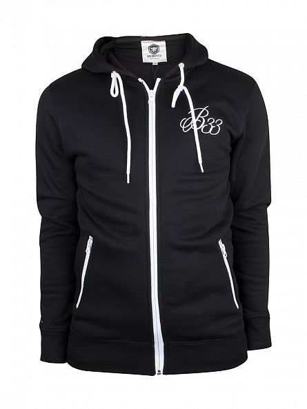 Bee Inspired Black B33 Logo Zip Hoodie