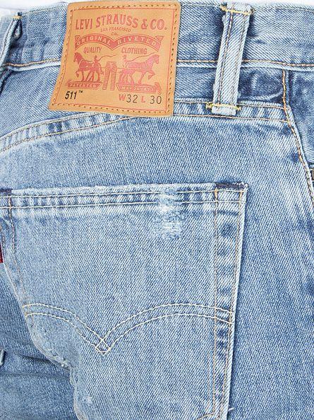 Levi's Light Wash 511 Slim Fit Broken In Jeans