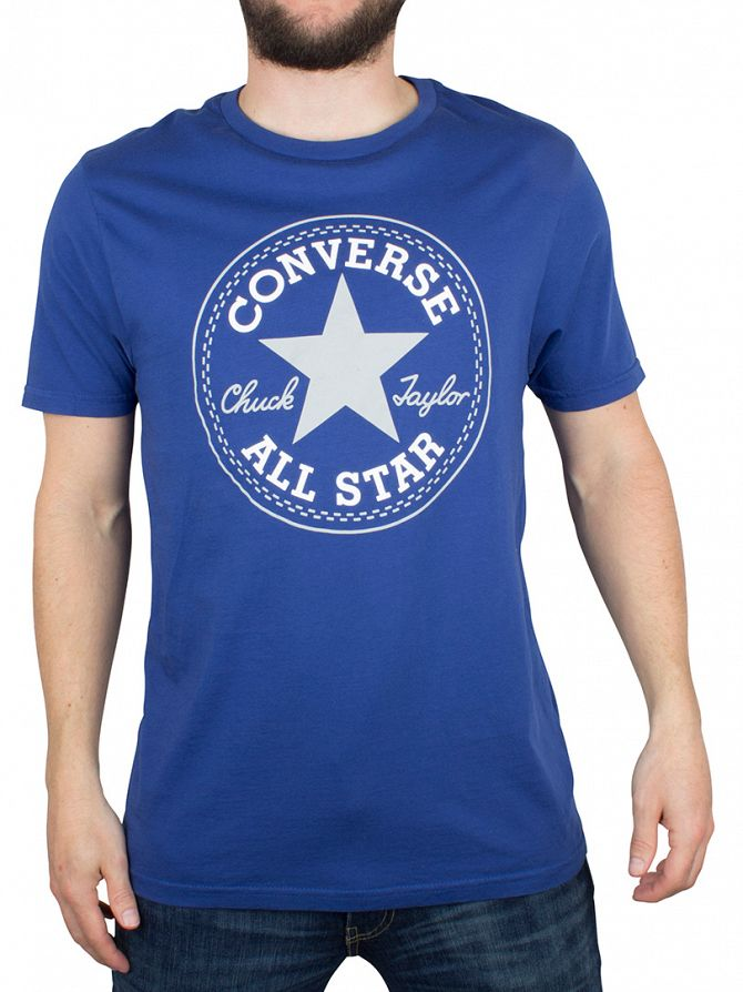 Converse Road Trip Blue Core Stamp Logo T-Shirt