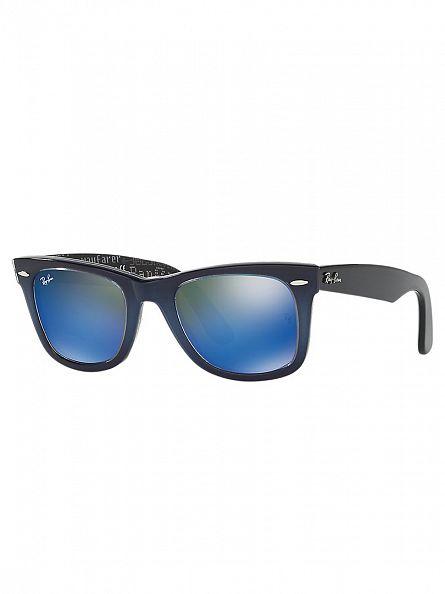Ray-Ban Blue Wayfarer Acetate Sunglasses RB2140
