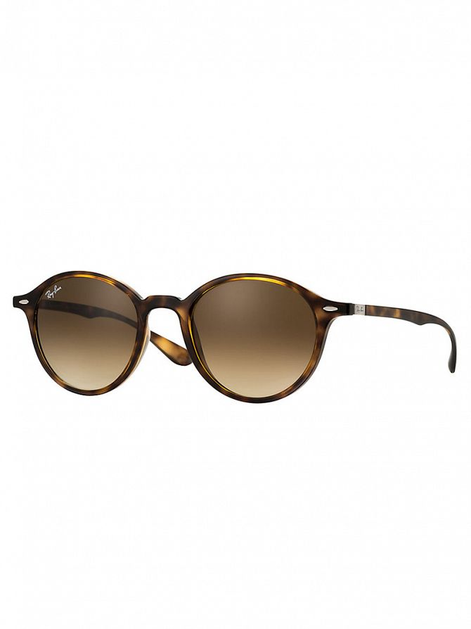 Ray-Ban Brown Round Injected Sunglasses RB4237