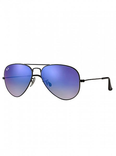 Ray-Ban Black Aviator Metal Man Sunglasses RB3025