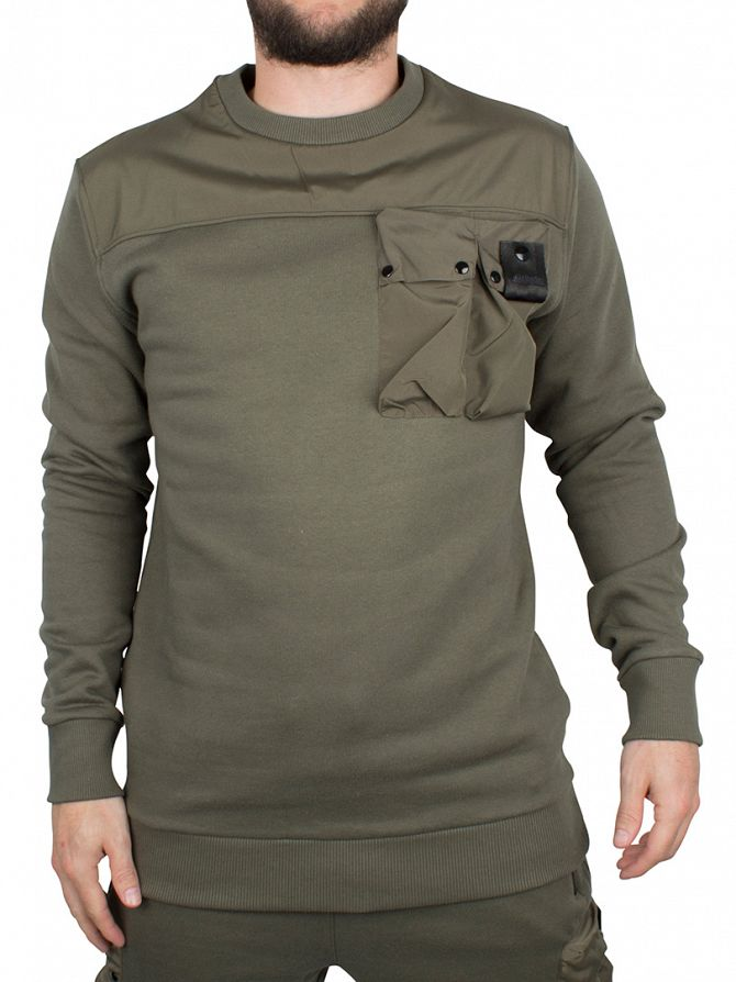 4Bidden Khaki Liberty Pocket Sweatshirt