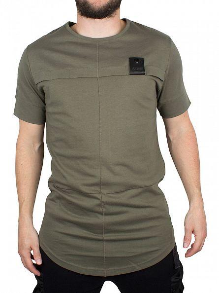4Bidden Khaki Aim Stitched Logo T-Shirt