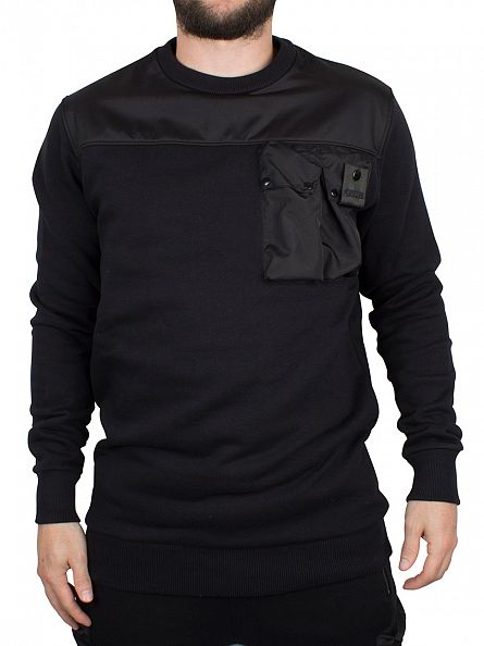 4Bidden Black Liberty Pocket Sweatshirt
