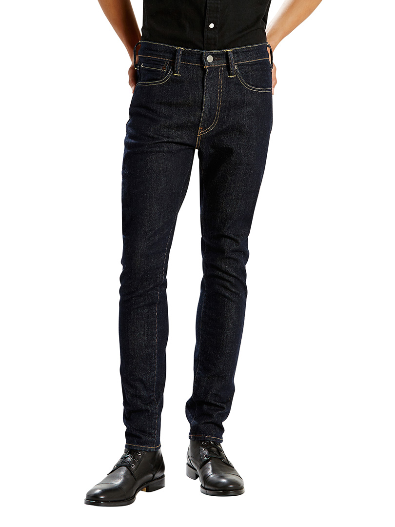 levi 39 s dark denim 519 extreme skinny fit pipe jeans standout. Black Bedroom Furniture Sets. Home Design Ideas