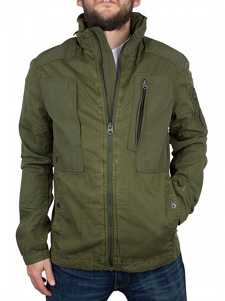G-Star Dark Bronze Green Powel Overshirt Jacket