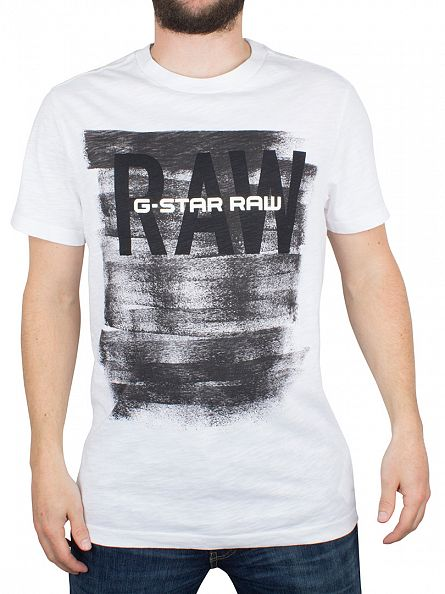 G-Star White Xaix R T Graphic T-Shirt
