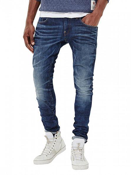 G-Star Medium Indigo Aged Revend Super Slim Jeans