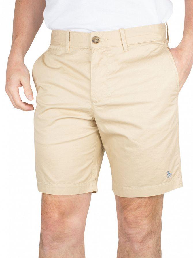 Original Penguin Pale Khaki P55 Slim Fit Logo Chino Shorts