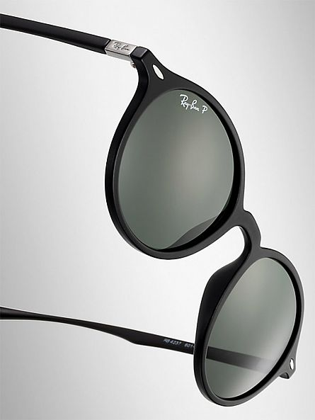 Ray-Ban Black Round Injected Sunglasses RB4237