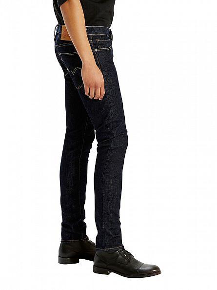 Levi's Dark Denim 519 Extreme Skinny Fit Pipe Jeans
