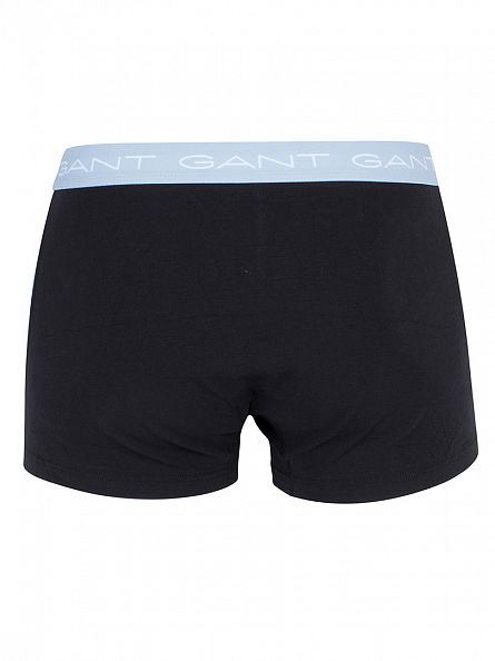 Gant Black/Blue/Orange/Pale Blue 3 Pack Cotton Stretch Seasonal Logo Waistband Trunks