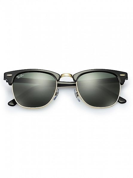 Ray-Ban Brown/Gold Clubmaster Acetate Sunglasses RB3016