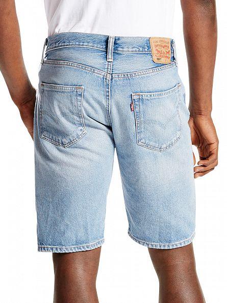 Levi's Light Blue 501 Original Fit Denim Shorts
