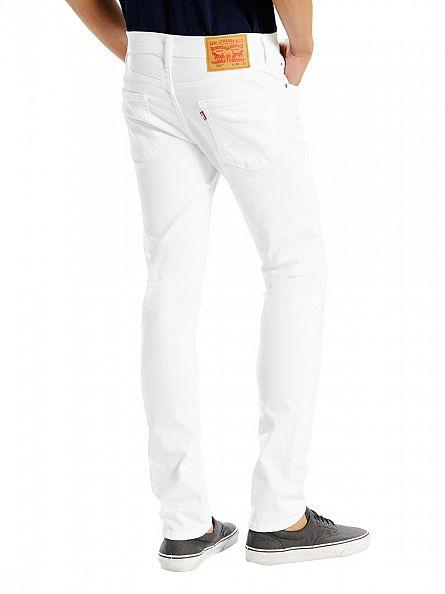 Levi's White 511 Slim Fit Castilleja Jeans