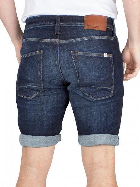 Original Penguin Mid Stone Wash Slim Fit Denim Shorts