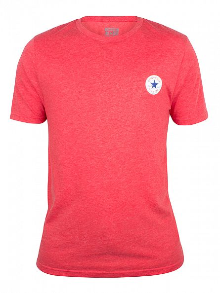 Converse Casino Red Core Left Chest Logo Marled T-Shirt