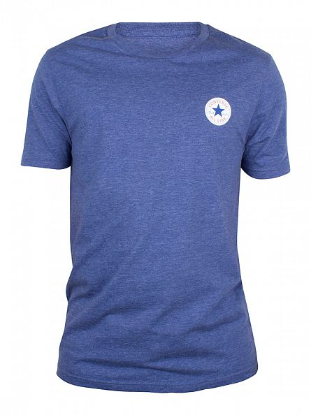 Converse Road Trip Blue Core Left Chest Logo Marled T-Shirt