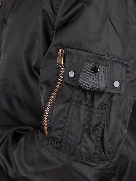 4Bidden Black Impact Zip Bomber Jacket