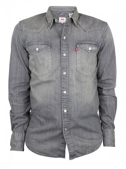 Levi's Charcoal Barstow Western Gray Longsleeved Shirt