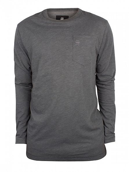 G-Star Night Grey Yedur Pocket R T Longsleeved Marled T-Shirt