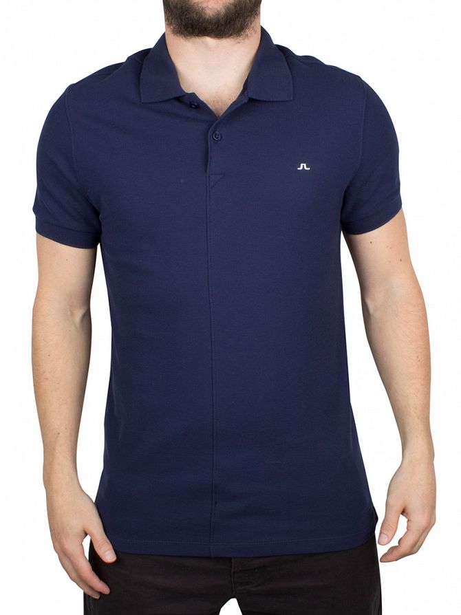 J Lindeberg Navy/Purple Rubi Slim Fit Logo Polo Shirt