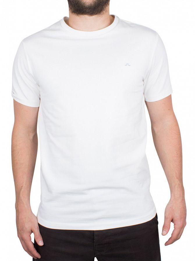 J Lindeberg White Silas Logo Cotton Jersey T-Shirt