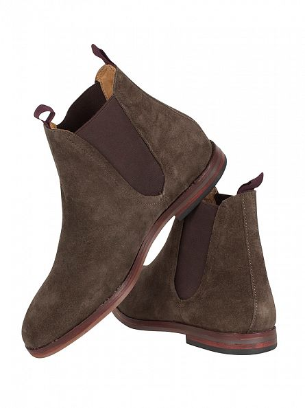 H by Hudson Brown Tamper Suede Chelsea Boots