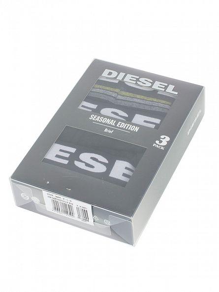 Diesel Black/Striped 3 Pack UMBR Seasonal Edition Briefs