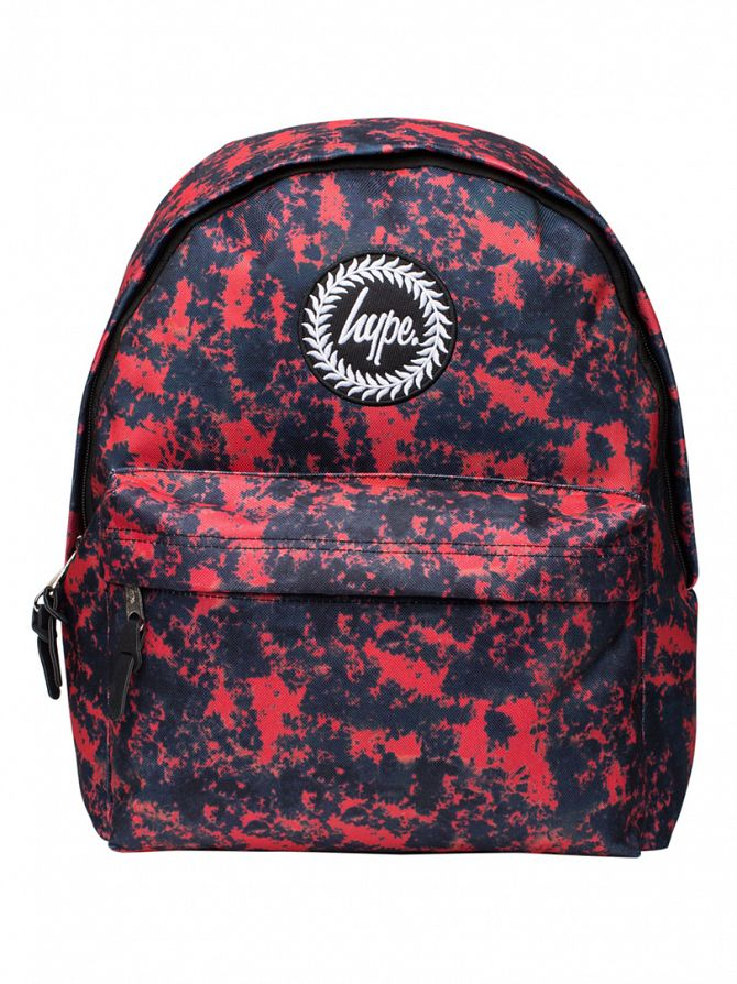 Hype Burgundy Acid Dye Logo Backpack