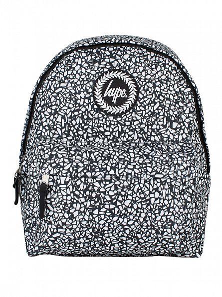 Hype Black/White Monotone Mosaic Logo Backpack