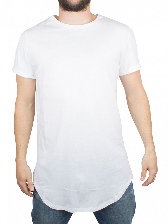 Sixth June White Curved Hem Zip T-Shirt