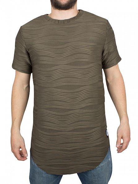 Sixth June Khaki Textured T-Shirt