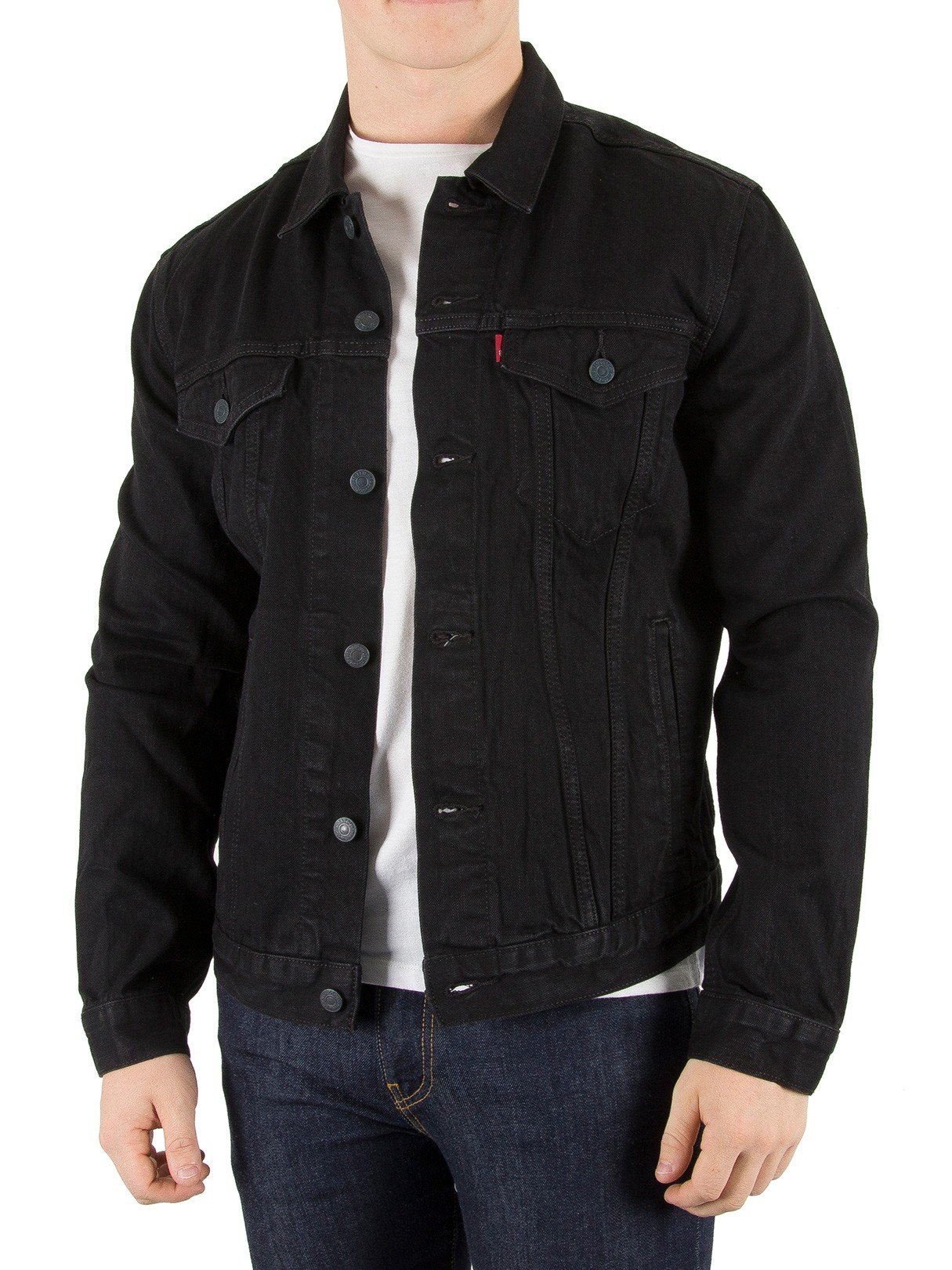 Leviu0026#39;s Menu0026#39;s Berkman Trucker Jacket Black | eBay