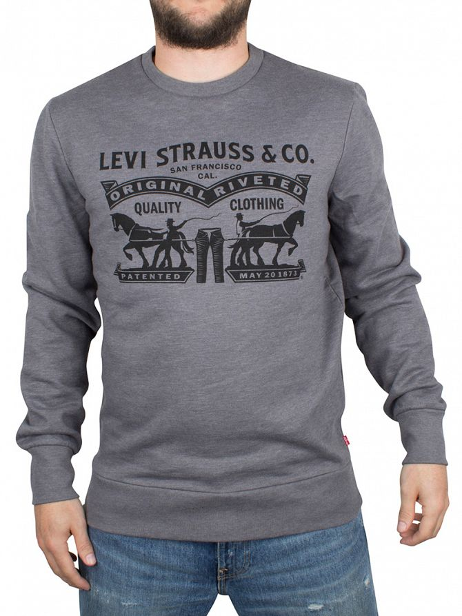 Levi's Grey Marl Graphic Sweatshirt