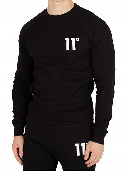 11 Degrees Black Core Logo Sweatshirt
