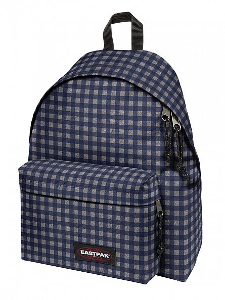 Eastpak Checksange Blue Padded PakR Logo Backpack