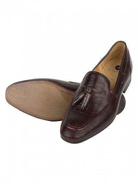 H by Hudson Croc Brown Pierre Shoes