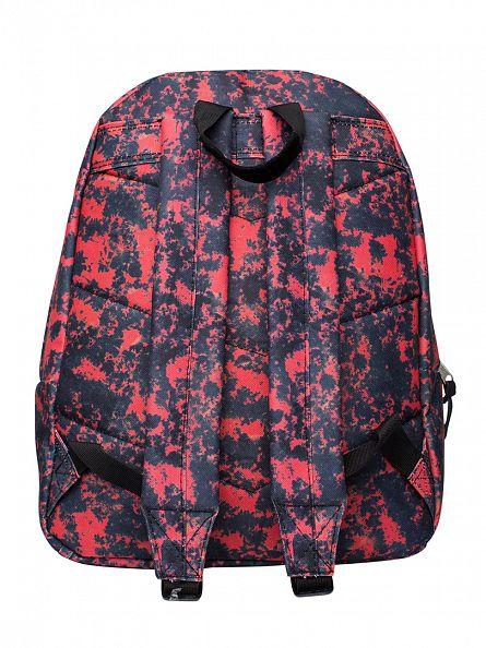 Hype Burgundy Acid Dye Logo Backpack