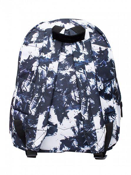 Hype White/Black Monotone Stroke Logo Backpack