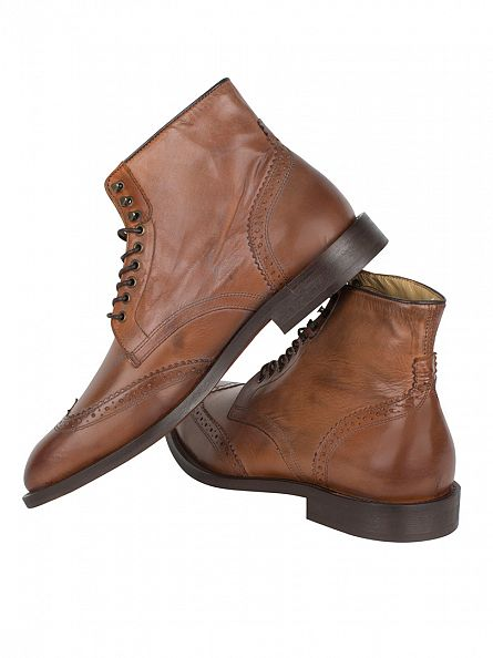 H by Hudson Tan Greenham Calf Boots