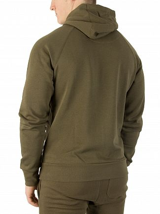 11 Degrees Khaki Core Logo Zip Hoodie