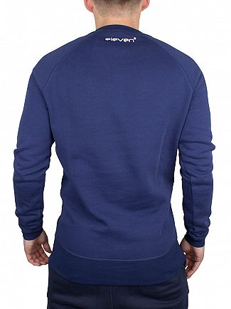 11 Degrees Navy Core Logo Sweatshirt