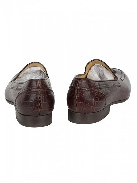 H by Hudson Croc Brown Pierre Shoes