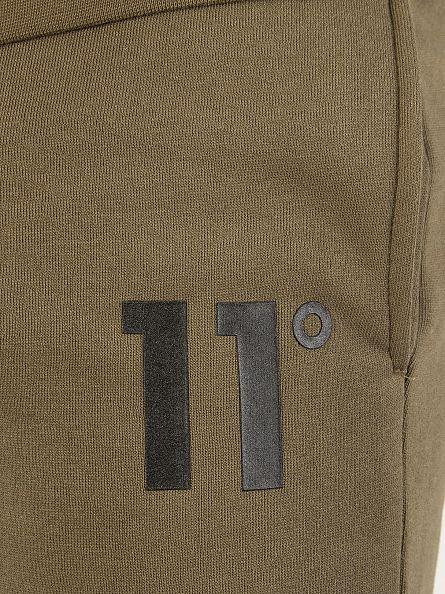 11 Degrees Khaki Core Logo Joggers