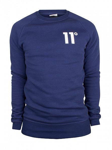 11 Degrees Navy Core Logo Sweatshirt