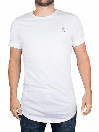Religion White Curved Hem Logo T-Shirt