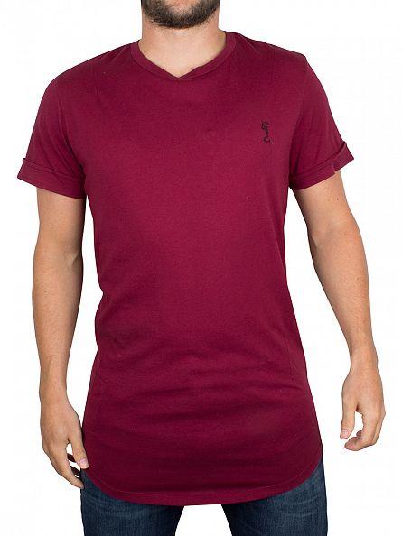 Religion Blood Red Curved Hem Logo T-Shirt