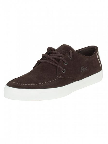 Lacoste Dark Brown Sevrin 316 1 CAM Trainers